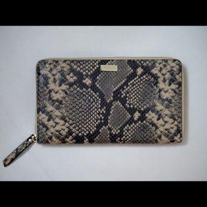 Kate Spade ♠️ Travel Snake Print Leather Wallet